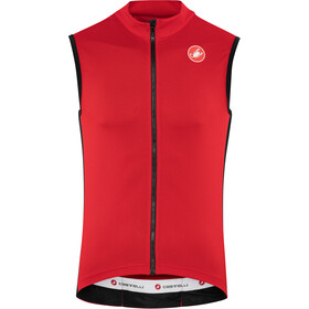 Castelli Entrata 3 FZ Sleeveless Jersey Men red